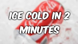 The fastest way to cool a soda drink 👑HowTo!👑