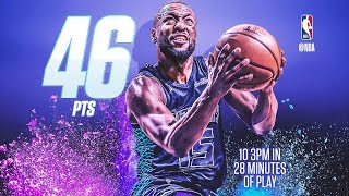 Kemba Walker 46 Points 10 Threes! Hornets Score 140 to 79! 2017-18 Season