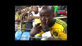 A passionate Mali football fan cries AFCON 2013  Nigeria Vs Mali4 1
