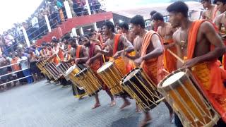 Thaymbaka boys at Sabarimala sannidanam