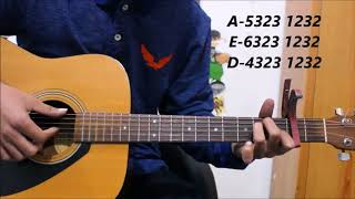 Tere Naam - Unplugged Guitar Cover Lesson Chords / Tabs - Easy Hindi songs