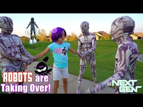 ROBOTS are TAKING OVER NINJA KIDZ TV NEXT GEN New Movie