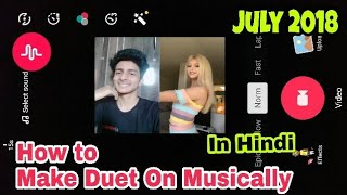 How to make duet on musically new update 2018 in hindi android | Musically tutorial | musically Tips