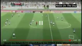 Spain vs Russia live