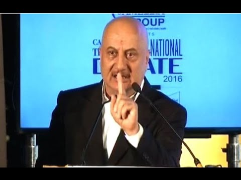 Anupam Kher  FULL Speech at The Telegraph National Debate 5 March 2016