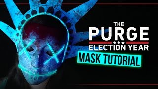 THE PURGE: ELECTION YEAR - Lady Liberty Mask Halloween Tutorial #SPOOKTOBER