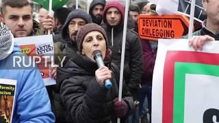 Belgium: Kurds protest Turkish operations in Afrin