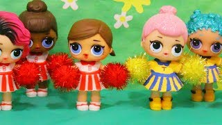 Toys for Kids LOL Surprise Dolls Cheerleader Competition - Family Fun Playtime & Roleplay w/ L.O.L.