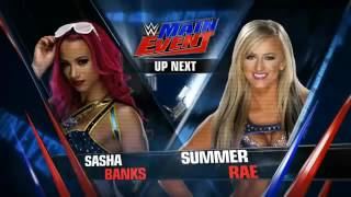 WWE Main Event 2 June 2016 Summer Rae vs Sasha Banks