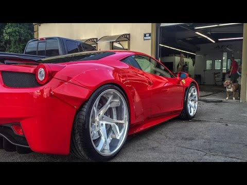 Twin Turbo Liberty Walk Ferrari 458 Debut