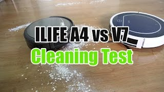 ILIFE A4 vs V7 Cleaning Test