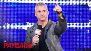 Shane McMahon restarts the WWE World Heavyweight Title Match: WWE Payback 2016 on WWE Network