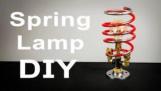 DIY Automotive Shock Spring Lamp How To Make