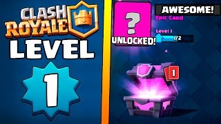 LEVEL 1 IN ''BARBARIAN BOWL'' ARENA :: Clash Royale :: ARENA 3 MAGICAL CHEST OPENING!