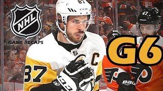 Pittsburgh Penguins vs Philadelphia Flyers. 2018 NHL Playoffs. Round 1. Game 6. 04.22.2018. (HD)