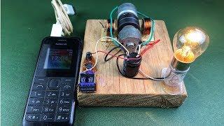 How to make free energy 100% mobile charging self running machine generator using dc motor (dynamo)
