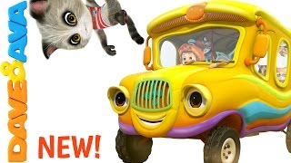 🐈 The Wheels on the Bus Song | Nursery Rhymes and Baby Songs from Dave and Ava 🐈