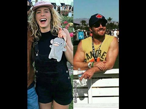 STEPHEN AMELL EMILY BETT RICKARDS AND CAITY LOTZ AT COACHELLA 2017