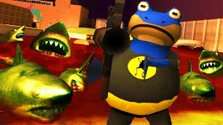 BAT FROG vs ZOMBIE SHARKS - Amazing Frog Halloween Update - Part 161 | Pungence