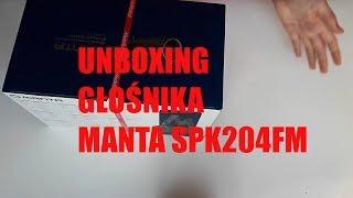 UNBOXING GŁOŚNIKA BEZPRZEWODOWEGO MANTA SPK204FM - test i recenzja