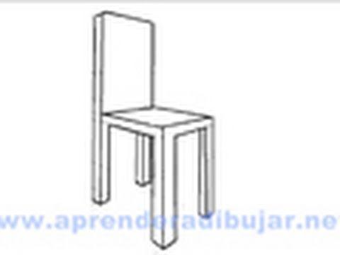 Como dibujar una silla en perspectiva Dibujos de sillas