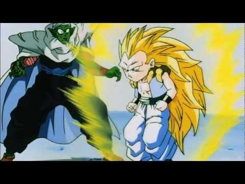 DBZ Gotenks turns Super Saiyan 3 for the First Time HD