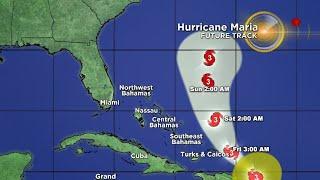 Tracking Hurricane Maria 9/21 9AM