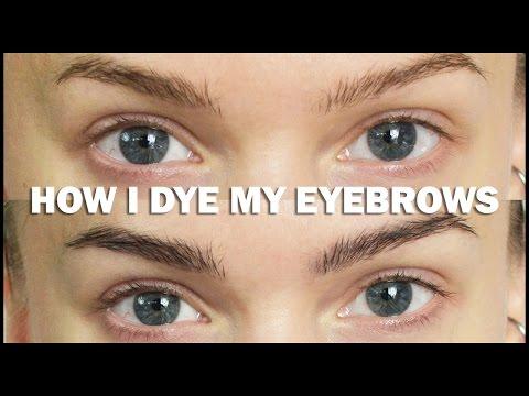 How I Dye My Eyebrows - Linda Hallberg Make Up Tutorials
