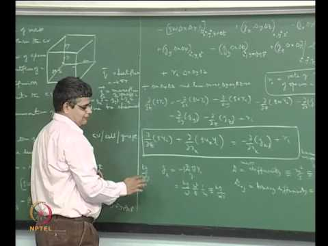 Mod-06 Lec-33 Derivation of the species conservation equation; dealing with chemical reactions