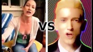 Eminem VS White Girl -  Rap God (Fast Part)