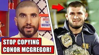 Ariel Helwani criticizes Khabib for copying Conor McGregor