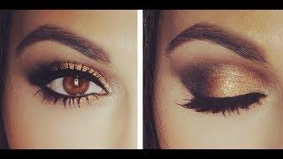 Gold Smokey Eye Tutorial | Eye Makeup Tutorial | Teni Panosian