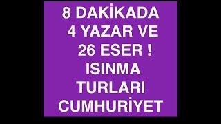 CUMHURİYET - 8 DAKİKADA 4 YAZAR 26 ESER - DAHA BAŞLAMADIK! -ISINMA TURLARI