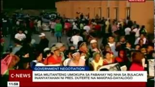 Mga umokupa sa pabahay ng NHA sa Bulacan, inanyayahang makipag-dayalogo ni Pres. Duterte