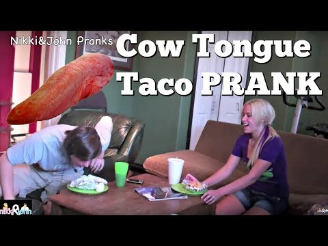 Cow Tongue Taco Prank WARNING GRAPHIC PUKE