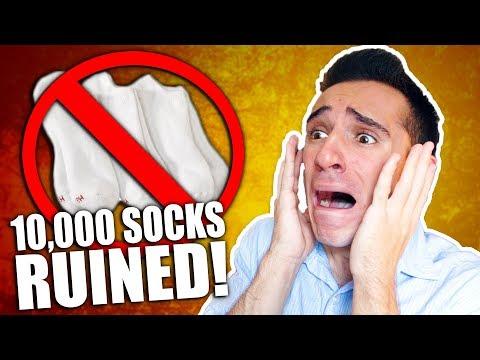 I RUINED 10 000 SOCKS IN 1 DAY