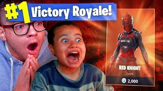 RED KNIGHT RETURNS FOR THE *LAST* TIME ON FORTNITE! 33 KILLS WITH 9 YEAR OLD KID BATTLE ROYALE!