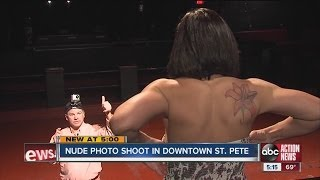 Photographer stages nude photo shoot in downtown St. Pete