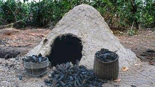 Build reusable charcoal mound