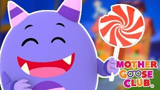 Johnny Eating Giant Candy 🎃  Halloween Party 🎃  Mother Goose Club | Trick or Treat songs for Kids