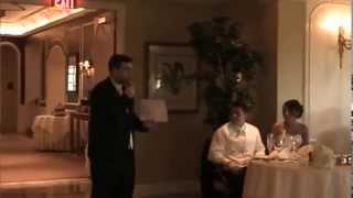 Hilarious Best Man Speech -- Irish Guy at Italian Wedding