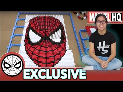 Xxx Mp4 Spider Man Domino Fall 10 000 DOMINOES With Hevesh5 MARVEL HQ EXCLUSIVE 3gp Sex