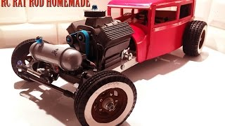 RC CAR - RAT ROD RWD HOMEMADE 1/10 [PART 3/5] V8 ENGINE