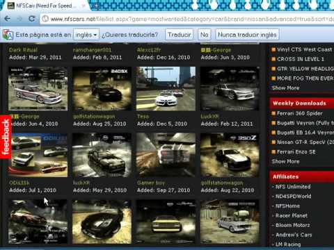 como instalar mods en el need for speed most wanted con loquendo