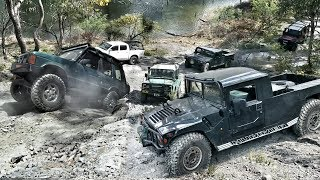 4x4 Unimog Hill Challenge - Hummer vs Defender vs Discovery