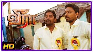Veera Tamil Movie 2018 Climax | Krishna stabs Charandeep | Karunakaran | Iswarya | End Credits