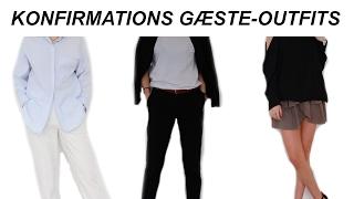 Pige gæste-Outfits til Konfirmation