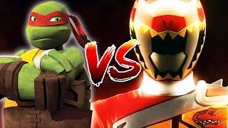 Teenage Mutant Ninja Turtles TMNT Vs Power Rangers
