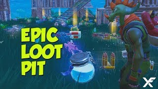 EPIC LOOT PIT - Insane Fortnite Round with Baron Von Games