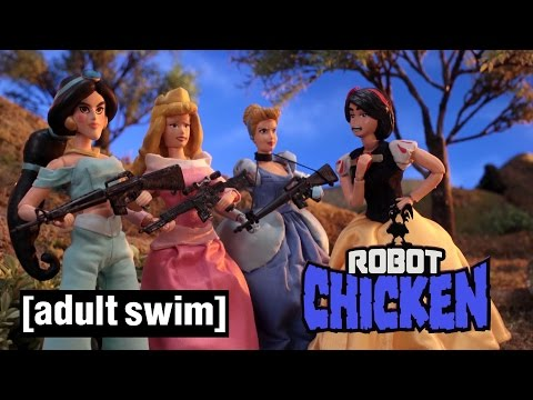 Disney Princess War Robot Chicken Adult Swim